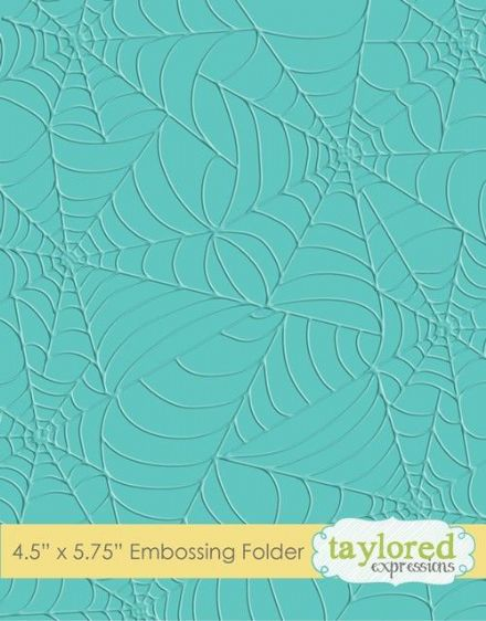 TEEF07 ~ TANGLED WEB ~ Embossing folder ~ Taylored Expressions